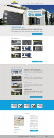 Proposition de maquette pour le site Rodriguez Stores et Volets