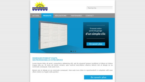 Proposition de mise en forme de la partie supérieure (header) du site Rodriguez Stores et Volets