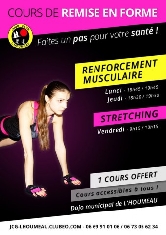 Affiche Flyer Gym Stretching - Remise en forme